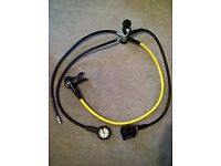 Mares scuba regulator and pressure gauge