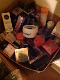 Large box of cosmetics. All new unused