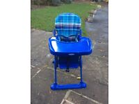 Mothercare folding High Chair in excellent condition