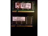 2 x 512MB DDR PC2700 - £10