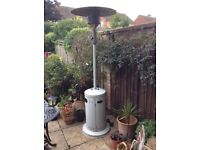 A gas patio heater in good working order