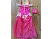 Princess handbag and dress age 7-8 year old - excellent condition.