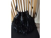 Black Fringe Bag with Silver Studs. Very Fashionable. Bargain. As New
