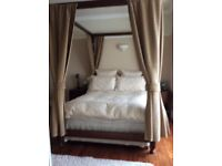 Mahogany double four poster bed frame