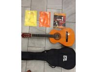 TGI guitar with books and case