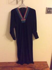 Girls black abaya/jilbab size 40