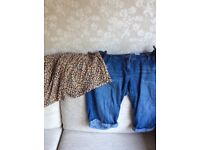 Two pairs of size 12 maternity shorts