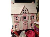 Elc rosebud dolls house including furniture
