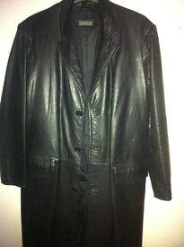 black leather coat for sale/swap