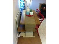 Shabby Chic Pine Dining Table & Bench!