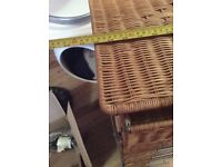 Lovely chest of drawers. Cane or wicker