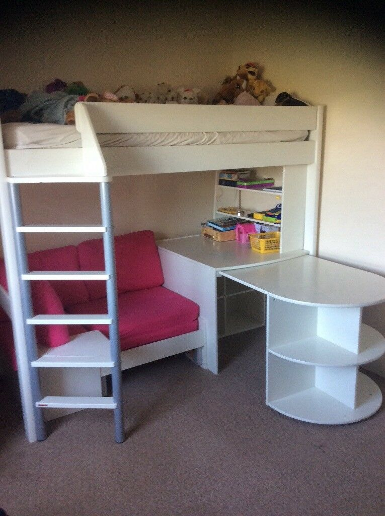 Girls Stompa Bunk Bed With Sofa Desk And Storage Cost Over