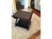Lovely coffee table side table with shelf underneath