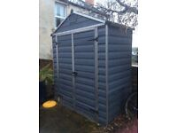 Plastic shed 3ft by 6 ft