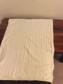 Mothercare special collection cream fleece lined baby blanket