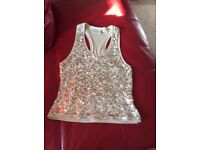 Gold sequin top size 12
