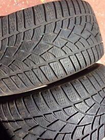 2x Dunlop sp winter sport 255/35/r18
