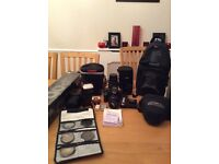 Canon EOS 1000d DSLR and lots of extras