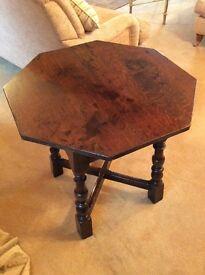 Octagonal Oak Small Table