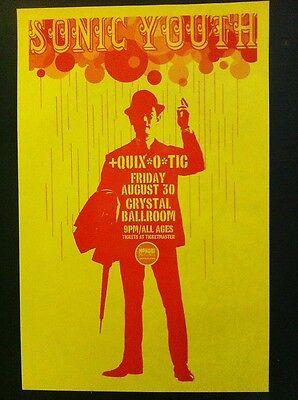 Sonic Youth Thurston Moore Kim Gordon Crystal Ballroom Concert Punk Flyer Poster