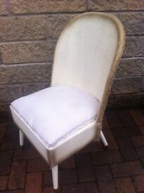 Lloyd loom style reproduction half tub chair