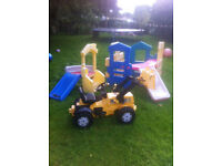 Little Tikes Climb n Slide, Activity Cube and JCB Ride On Tractor... can be sold seperately