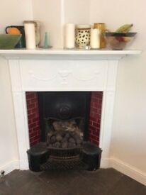 Original cast iron tiled Edwardian fireplace - ready for collection