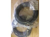 ST-SC Duplex 62.5/125 OM1 Multimode Fibre Grey 10m