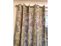 New Forest antique brasss eyelet curtains