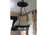 Victorian oil lamp ceiling light
