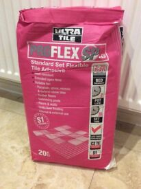 Slow Set Flexible Grey Tile Adhesive For Floor, Wall & Stone 20kg x 2 Bags