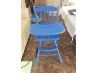 Blue Wooden Highchair