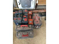 Job lot of damaged/unworking power tools (spares and repairs)
