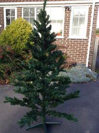 6 ft Christmas tree plus Santa decorations