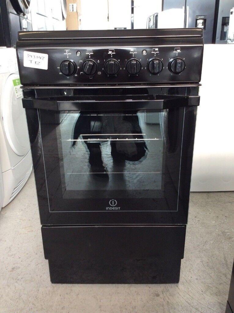 Indesit I5VSHK Electric Cooker with Ceramic Hob - Black #393142 ...