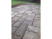 Patio paving slabs - old yorkstone - 15sqm