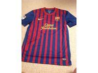 Barcelona home shirt.
