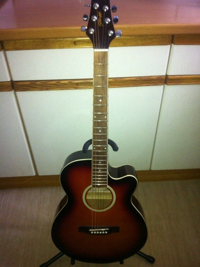 stagg electro/acoustic,open to p/x or swap for telecaster/semi