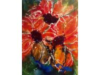 """"""" WILD JOY """" Canvas Painting (23.5 X 12.5 inches)"""