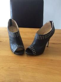 Studded open toe shoe boot (4/37)