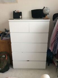 Bedroom furniture job lot. Drawers/clothes rail/cabinet/tv unit