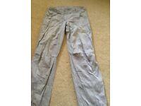 Women's Grey Cargo Pants