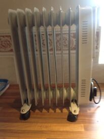Portable electric, oil filled radiator.