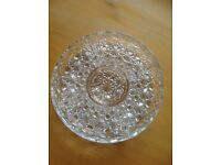 Cut glass canapé dish. Perfect condition.