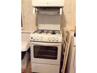 Gas Cooker with Eye Level Grill & 4 Gas Burners in White