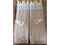 Nursery Curtains with tie-backs.