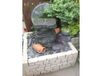 Solid stone water feature/fountain
