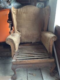 Old wing arm chair