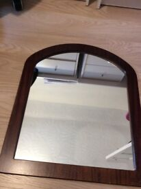 Nearly new Real wood frame mirror