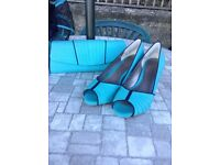 Jacques Vert matching hat, clutch bag and shoes (size 6)